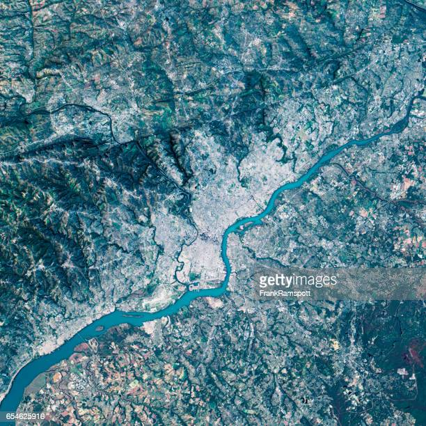 Philadelphia 3D Render Satellite View Topographic Map