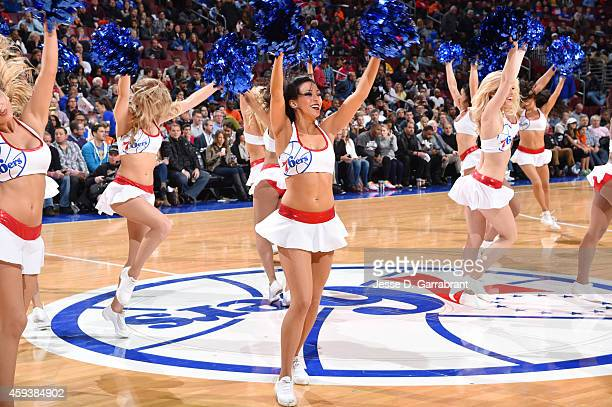 Philadelphia 76ers dancers perform during the game against the Phoenix Suns on November 21 2014 at Wells Fargo Center in Philadelphia Pennsylvania...
