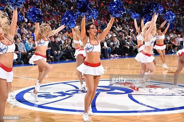 Philadelphia 76ers dancers performduring the game against the Phoenix Suns on November 21 2014 at Wells Fargo Center in Philadelphia Pennsylvania...