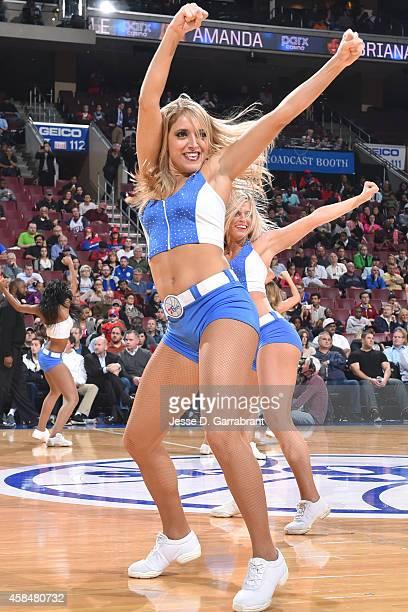 Philadelphia 76ers dancers performduring the game on November 5 2014 at Wells Fargo Center in Philadelphia Pennsylvania NOTE TO USER User expressly...