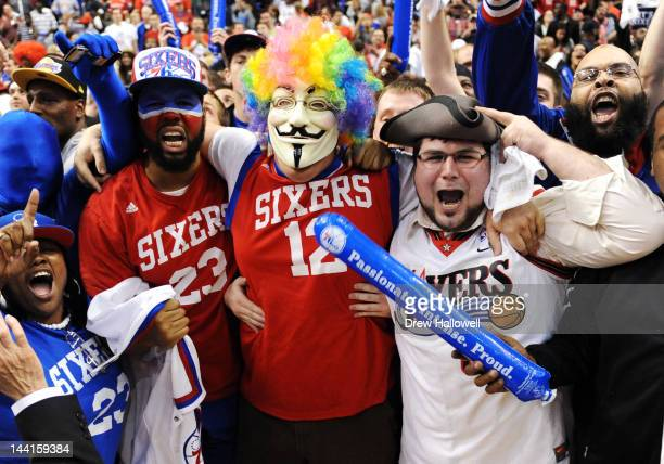 Philadelphia 76ers fans cheer after a 7978 win over the Chicago Bulls in Game Six of the Eastern Conference Quarterfinals in the 2012 NBA Playoffs at...