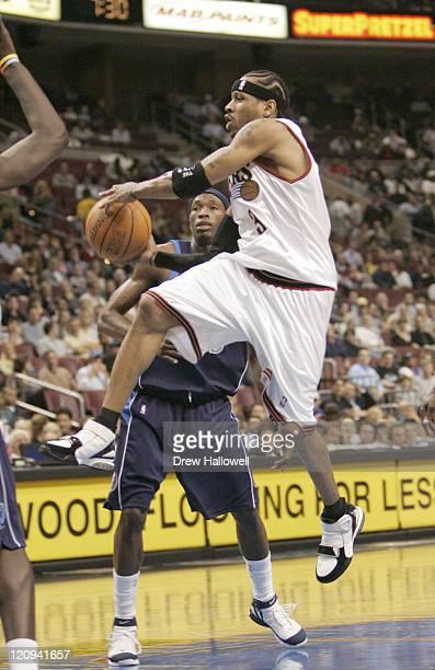 Philadelphia 76ers guard Allen Iverson Wednesday Nov 9 2005 in Philadelphia PA The Philadelphia 76ers defeated the Dallas Mavericks 11297