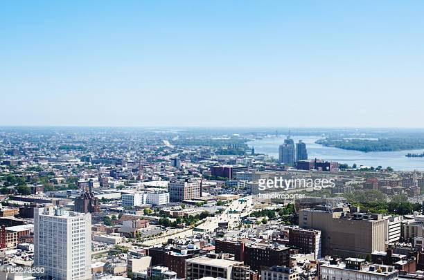 Philadelphia aerial view on sunny day