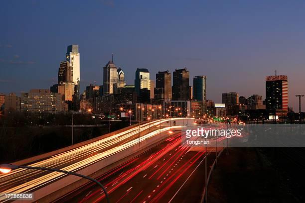 Philadelphia at dusk