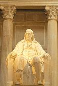 USA, Philadelphia, Benjamin Franklin statue at Franklin Institute