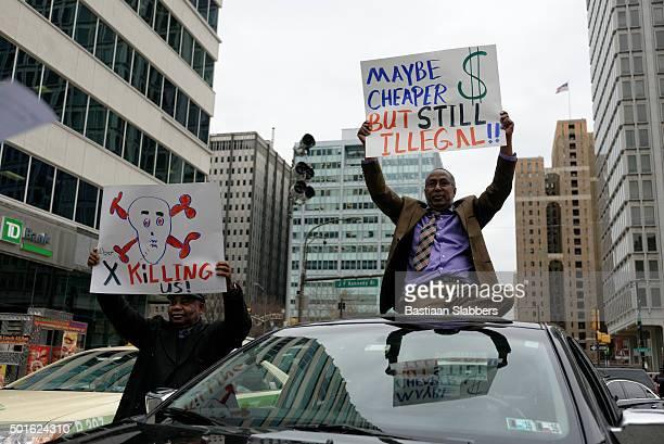 Philadelphia cab and limousine drivers protest cheaper alternatives