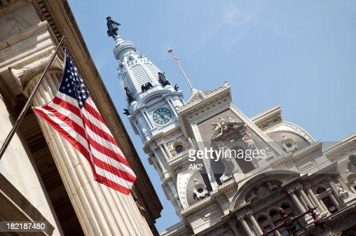 Philadelphia city hall from Broad Street