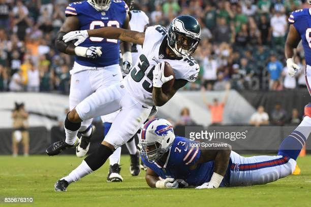 Philadelphia Eagles corner back Ronald Darby runs with the ball during a Preseason National Football game between the Buffalo Bills and the...