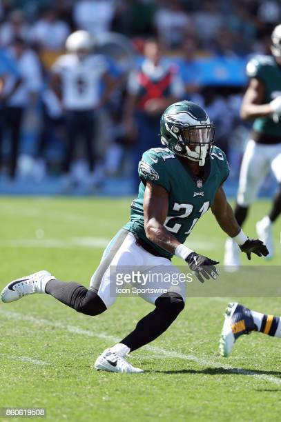 Philadelphia Eagles cornerback Patrick Robinson defends a play during an NFL game against the Los Angeles Chargers on October 01 2017 at StubHub...