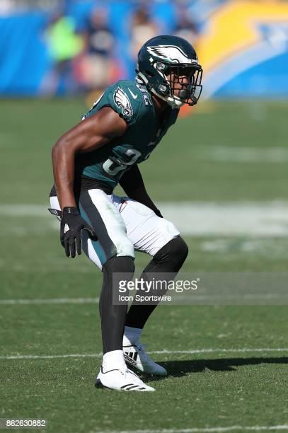 Philadelphia Eagles cornerback Rasul Jenkins defends during the Philadelphia Eagles game versus the Los Angeles Chargers on October 1 at StubHub...
