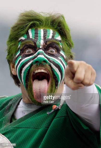 Philadelphia Eagles fan cheers before the start of the Eagles game against the San Francisco 49ers at Lincoln Financial Field on October 2 2011 in...