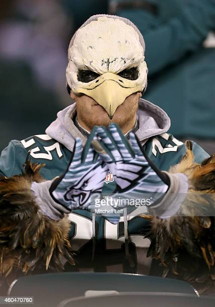 Philadelphia Eagles fan looks on prior to the game against the Dallas Cowboys at Lincoln Financial Field on December 14 2014 in Philadelphia...