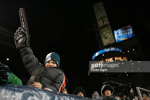 Philadelphia Eagles fan poses for a photo during a game against the Minnesota Vikings at Lincoln Financial Field on December 28 2010 in Philadelphia...