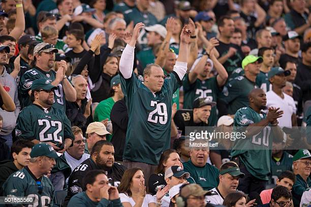 Philadelphia Eagles fans react during the game against the Buffalo Bills on December 13 2015 at the Lincoln Financial Field in Philadelphia...