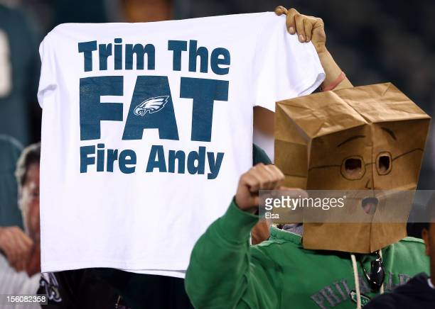 Philadelphia Eagles fans react to the loss on November 11 2012 at Lincoln Financial Field in Philadelphia PennsylvaniaThe Dallas Cowboys defeated the...