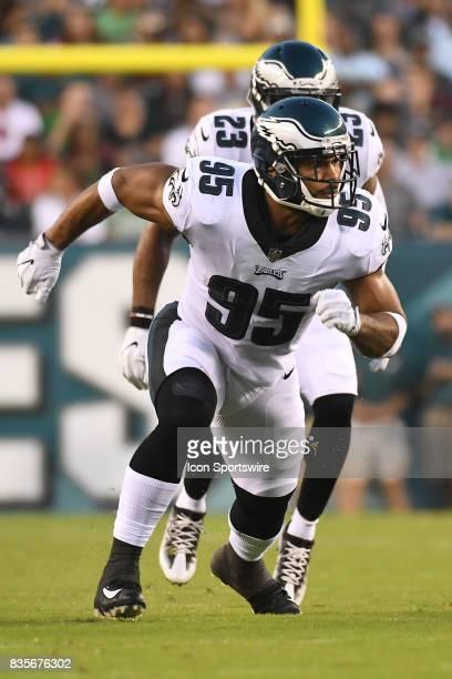 Philadelphia Eagles outside linebacker Mychal Kendricks rushes the pocket during a Preseason National Football game between the Buffalo Bills and the...