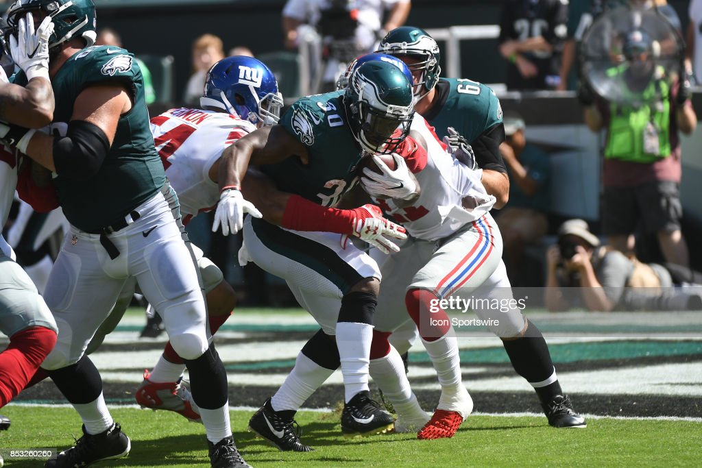 ... Philadelphia Eagles running back Corey Clement (30) carries the ball  during a NFL football ... 77fdde9cb