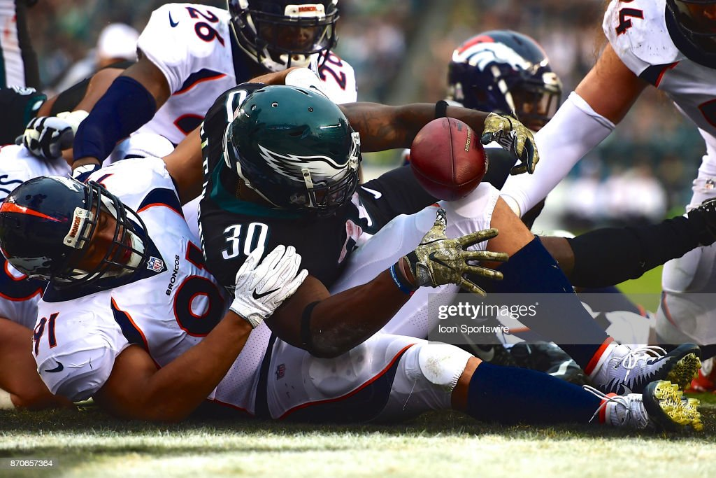 ... Philadelphia Eagles running back Corey Clement (30) scores a touchdown  during a NFL football ... 8730e23ba