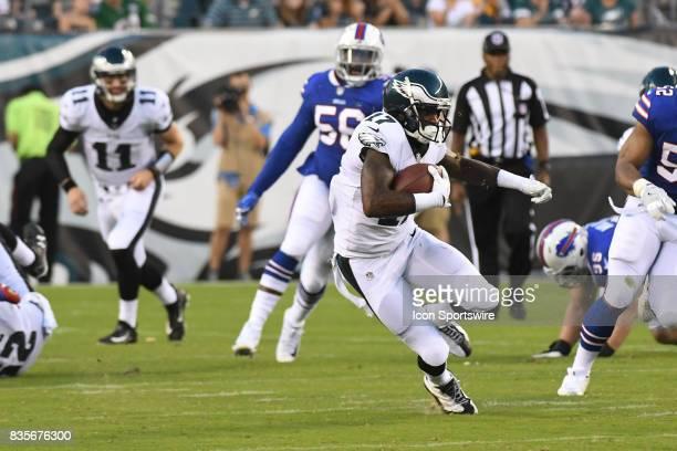 Philadelphia Eagles wide receiver Alshon Jeffery runs the ball during a Preseason National Football game between the Buffalo Bills and the...