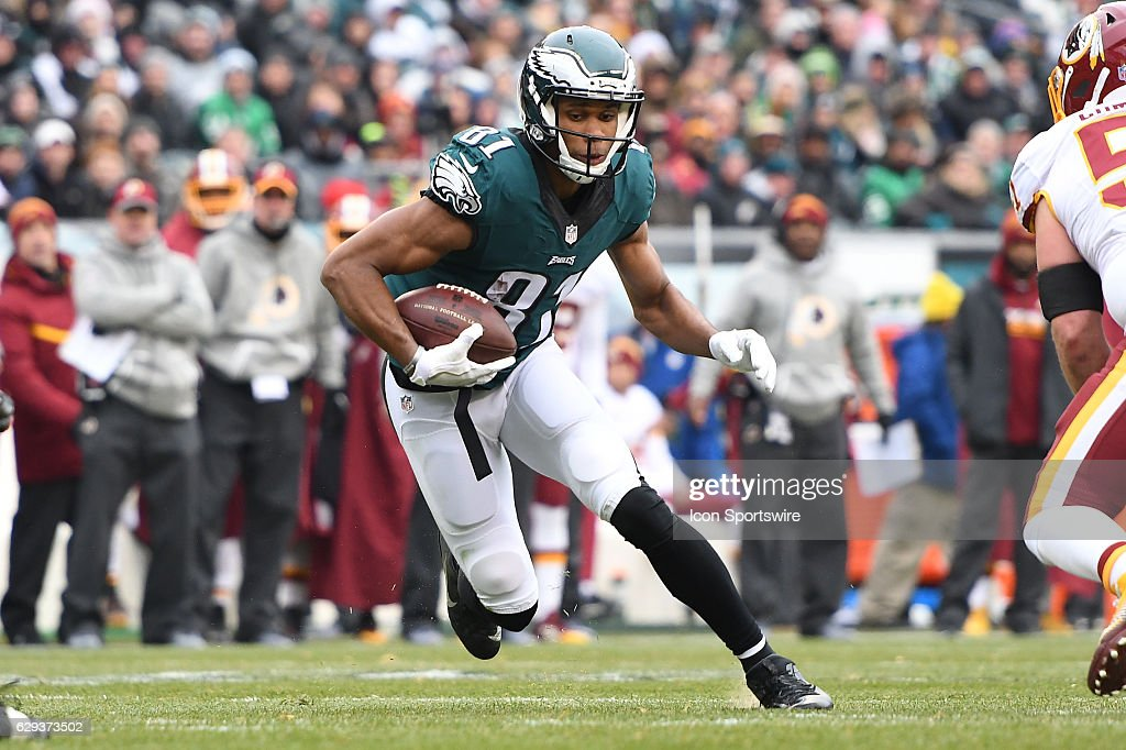 Philadelphia Eagles Wide Receiver Jordan Matthews (81) picks up a first down during a National Football League game between the Washington Redskins and the Philadelphia Eagles on December 11, 2016, at Lincoln Financial Field in Philadelphia, PA, Redskins won 27-22.