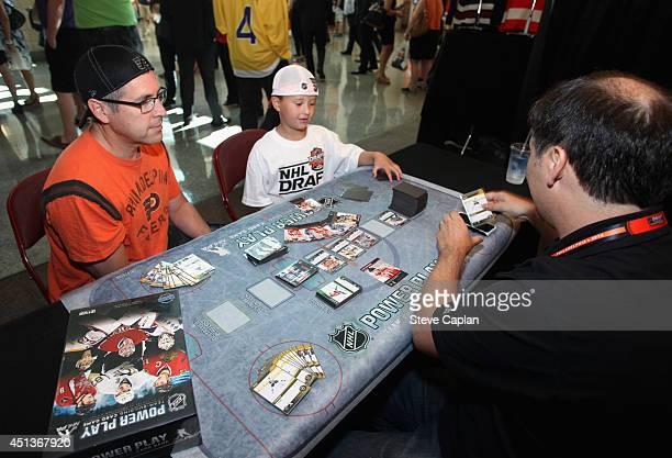 Philadelphia Flyers fans attend the Fan Fest as part of the 2014 NHL Entry Draft at the Wells Fargo Center on June 27 2014 in Philadelphia...