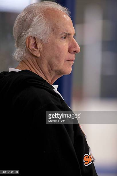 Philadelphia Flyers Owner Ed Snider attends the 2014 NHL Draft Top Prospects Clinic on June 26 2014 at Scanlon Ice Rink in Philadelphia Pennsylvania