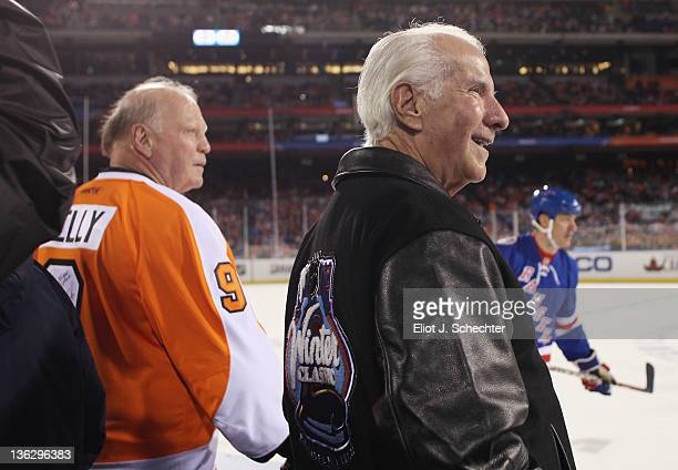 Philadelphia Flyers owner Ed Snider looks on during the Alumni Game between the Philadelphia Flyers and the New York Rangers on December 31 2011 in...