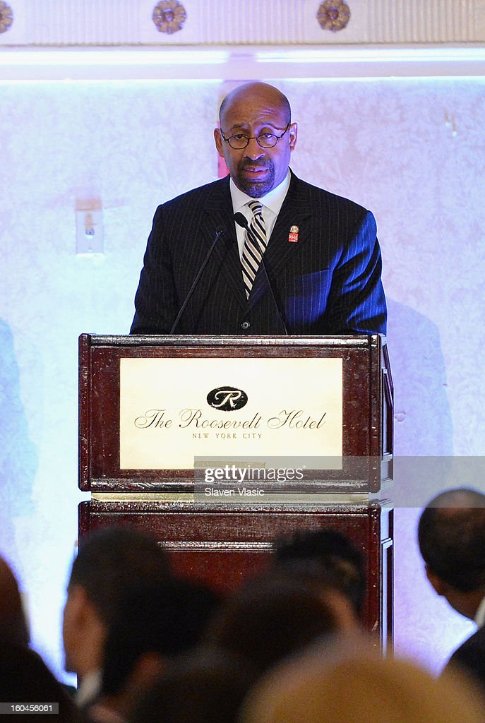 Philadelphia Mayor Michael A. Nutter attends the 16th Annual Wall Street Project 'Access To Captial' luncheon at The Roosevelt Hotel on January 31, 2013 in New York City.