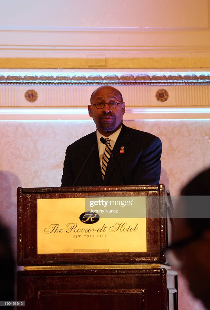 Philadelphia Mayor Michael A. Nutter speaks at The 16th Annual Wall Street Project 'Access To Captial' Luncheon at The Roosevelt Hotel on January 31, 2013, in New York City.
