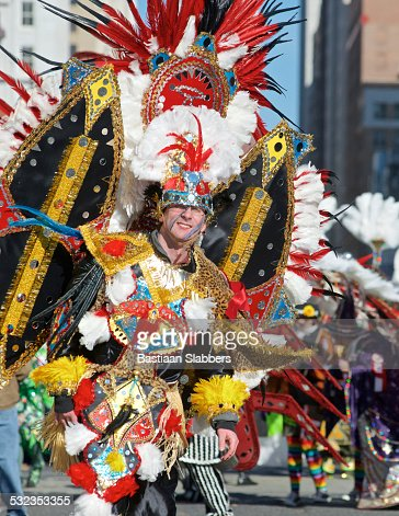 Philadelphia Mummer at Annual New Years Day Parade