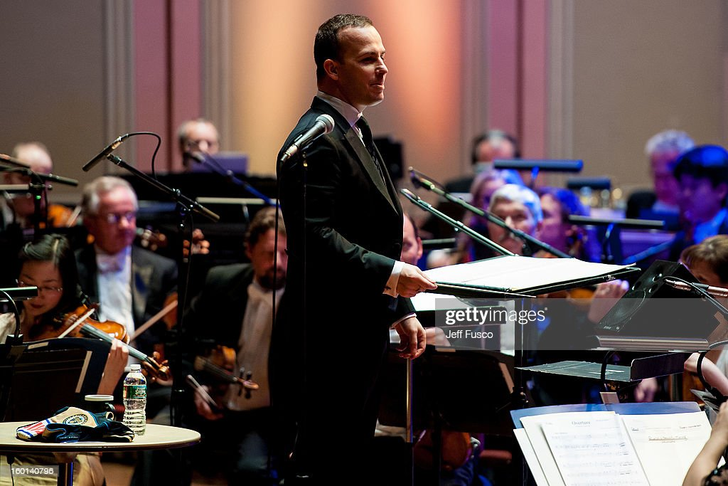 Philadelphia Orchestra Music Director Yannick Nézet-Séguin performs with the Philadelphia Orchestra at the Academy of Music's 156th Anniversary Concert at the Academy of Music on January 26, 2013 in Philadelphia, Pennsylvania.