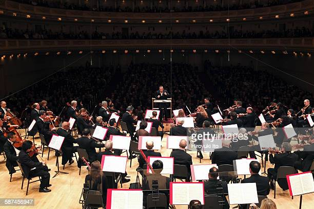 Philadelphia Orchestra performing at Carnegie Hall on Tuesday night October 13 2015This imageYannick NezetSeguin leading the Philadelphia Orchestra...