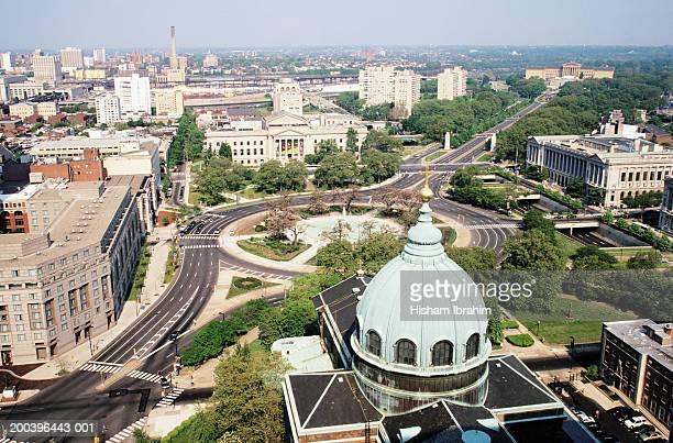 USA, Philadelphia, Pennsylvania, Logan Circle, aerial view