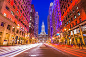 Philadelphia, Pennsylvania, USA downtown at city hall.