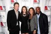 Philadelphia Phillies Chase Utley his wife Jennifer Utley Jimmy Rollins and his wife Johari Rollins attend the 3rd Annual Utley AllStars Animal...