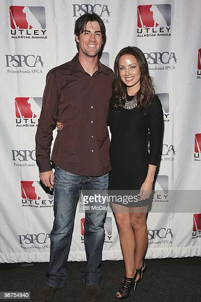 Philadelphia Phillies Cole Hamels and Jennifer Utley attend the 3rd Annual Utley AllStars Animal Casino Night at The Electric Factory April 29 2010...