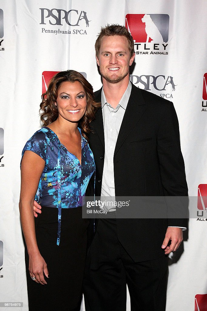 Philadelphia Phillies Kyle Kendrick and Stephenie LaGrossa attend the 3rd Annual Utley All-Stars Animal Casino Night at The Electric Factory April 29, 2010 in Philadelphia, Pennsylvania.