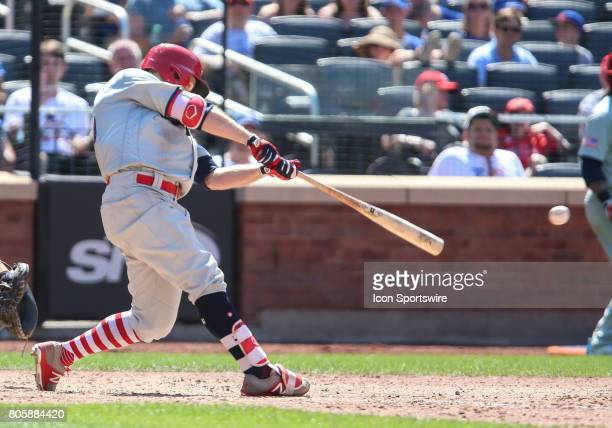 Philadelphia Phillies Outfielder Daniel Nava hits a 2RBI single during the eighth inning of the game between the Philadelphia Phillies and the New...