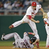 Philadelphia Phillies second baseman Chase Utley in action Wednesday April 2006 at Citizens Bank Park in Philadelphia PA The Philadelphia Phillies...