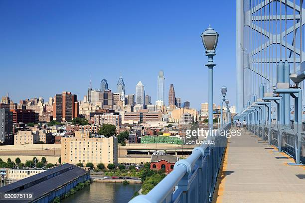 Philadelphia Skyline from Benjamin Franklin Bridge