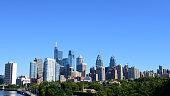 Philadelphia skyline on a clear sunny day