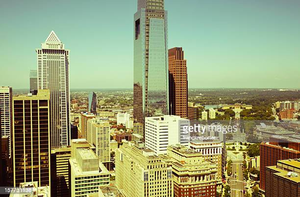 Philadelphia skyline skyscraper on a day