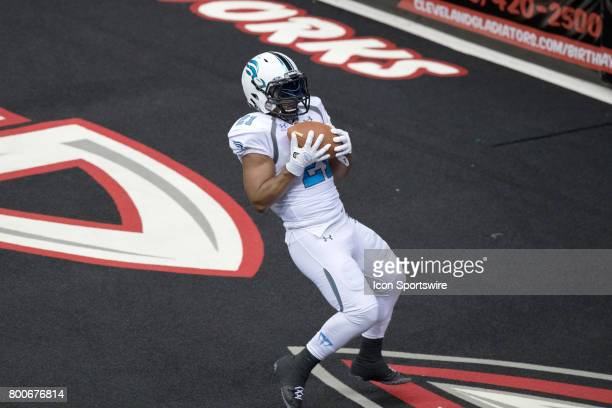 Philadelphia Soul WR Shaun Kauleinamoku makes a 21 yard touchdown pass during the fourth quarter of the Arena Football League game between the...