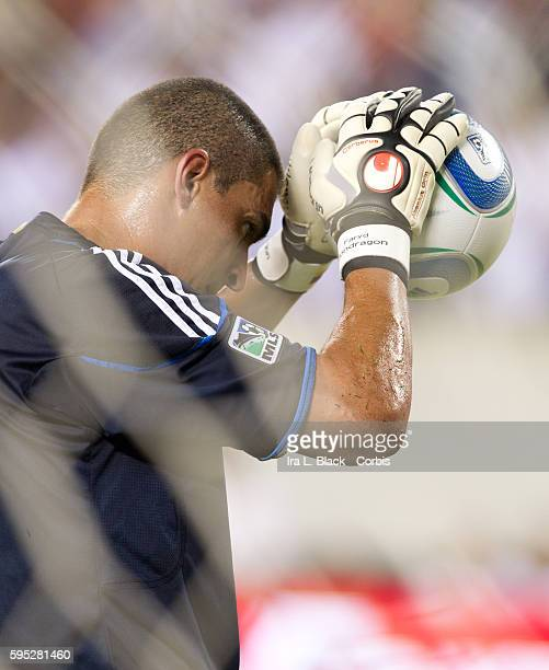 Philadelphia Union Captain and Goalkeeper Faryd Mondragon prior to the Friendly Match against Philadelphia Union as part of the Herbalife World...
