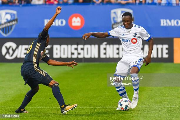Philadelphia Union defender Ray Gaddis stopping in front of Montreal Impact midfielder Ballou Tabla during the Philadelphia Union versus the Montreal...