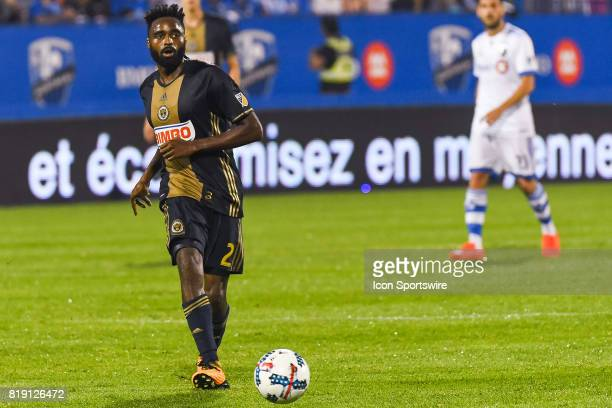 Philadelphia Union defender Warren Creavalle passing the ball during the Philadelphia Union versus the Montreal Impact game on July 19 at Stade...