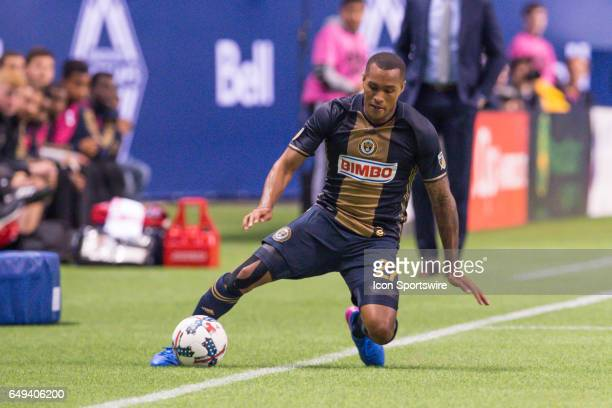 Philadelphia Union midfielder Brian Carroll can't keep the ball in play during the game between the Vancouver Whitecaps and the Philadelphia Union at...
