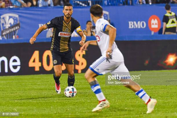 Philadelphia Union midfielder Haris Medunjanin in an offensive sequence during the Philadelphia Union versus the Montreal Impact game on July 19 at...