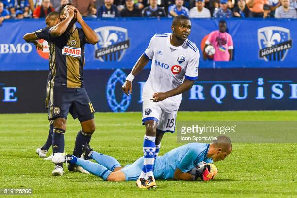 Philadelphia Union midfielder Roland Alberg frustrated after a stop by Montreal Impact goalkeeper Evan Bush during the Philadelphia Union versus the...