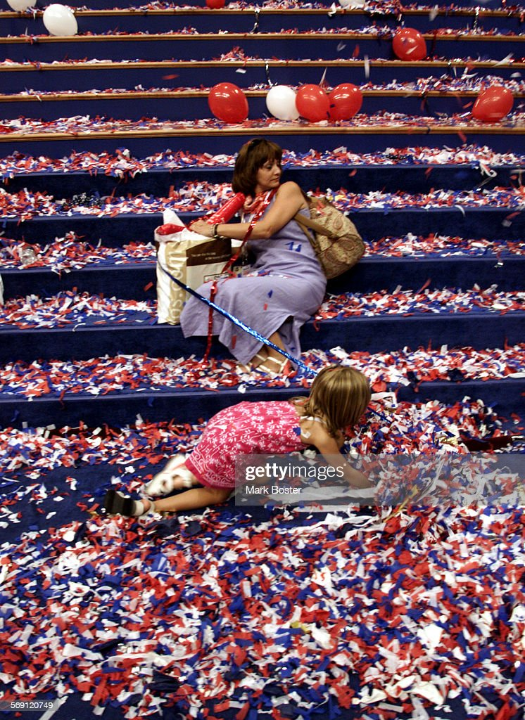 Philadelphia––Terri Morgan sat on the steps of the podium long after the Republican National Convention was over while her six–year–old daughter...